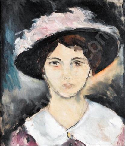 Qui a peint 'Femme au chapeau rose' ?