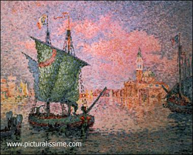 Qui a peint 'Le nuage rose, Venise' ?