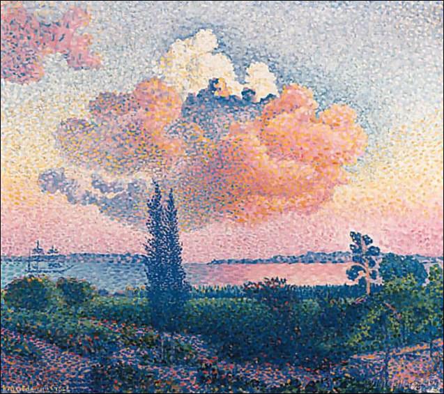 Qui a peint 'Le nuage rose' ?