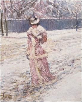 Quel peintre américain a réalisé 'Dame en rose' ?