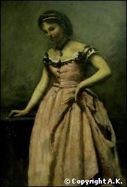 Qui a peint 'Jeune femme à la robe rose' ?