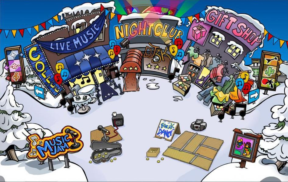 Club Penguin Endroits