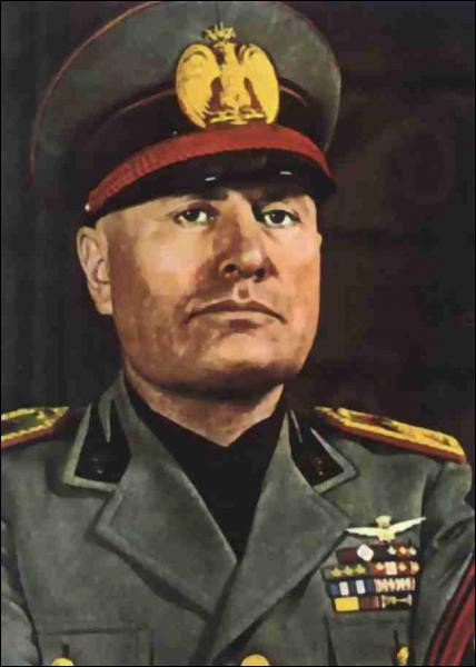 Quel est ce personnage historique qui a dirigé l'Italie fasciste ?