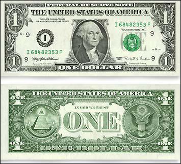 Qui figure sur le billet d'un dollar américain ?