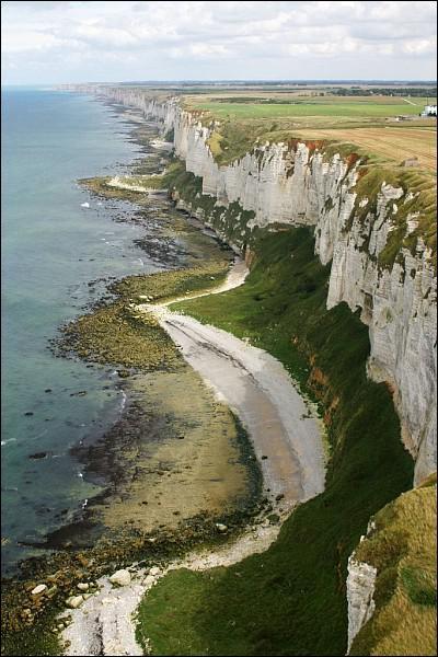 Comment s'appelle cette côte à hautes falaises calcaires ?