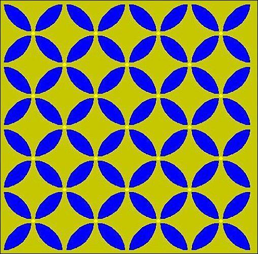Que voyez-vous sur l'image, des fleurs ou des ronds ?