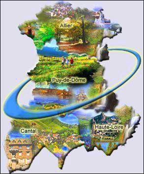 Combien y a-t-il de départements en Auvergne ?