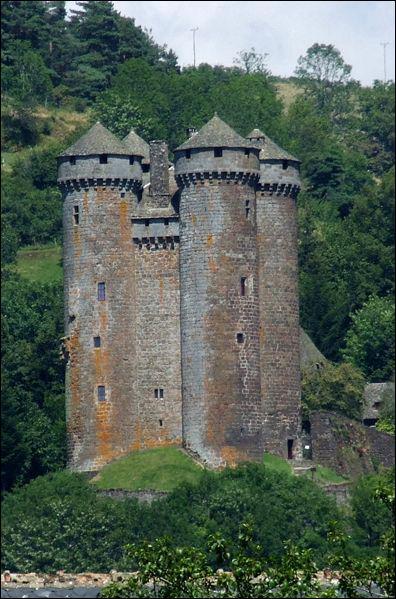 De quand date le château d'Anjony, dans le Cantal ?