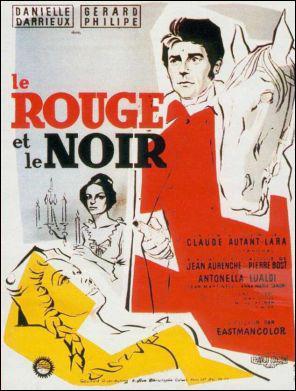 Qui est l'auteur de l'oeuvre littéraire, ' Le Rouge et le Noir' ?