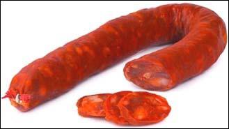 Quel est le nom de ce saucisson espagnol rouge et pimenté ?