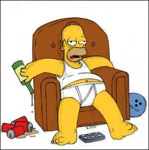 Homer Simpson boit beaucoup de :
