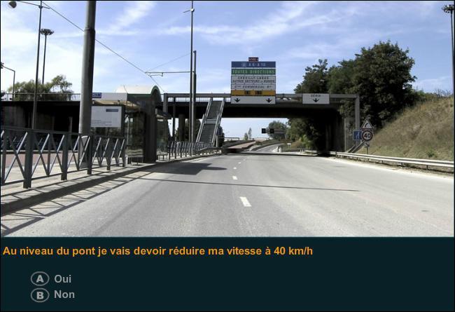 Au niveau du pont, je vais devoir réduire ma vitesse à 40 km/h ?