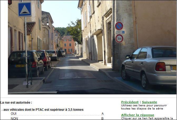 La rue est autorisée aux véhicules dont le PTAC est supérieur à 3. 5 tonnes ?