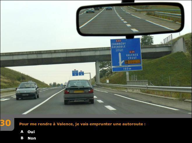 Pour me rendre à Valence, je vais emprunter une autoroute ?