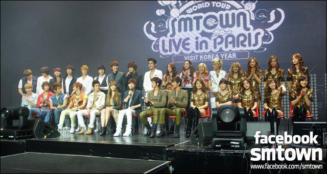 Quand a eu lieu le premier concert de la SM. Entertainment à Paris ?