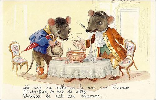 Le rat des villes et le rat des champs est une fable de...