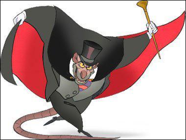 Toujours chez Disney, c'est l'ennemi juré de Basile, la souris détective privé.