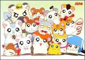 Comment se nomme le petit hamster manga, au centre de l'image ?