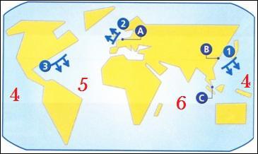 A quelle façade maritime correspond le numéro 3 ?