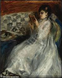 Qui a peint Jeune femme en blanc lisant ?