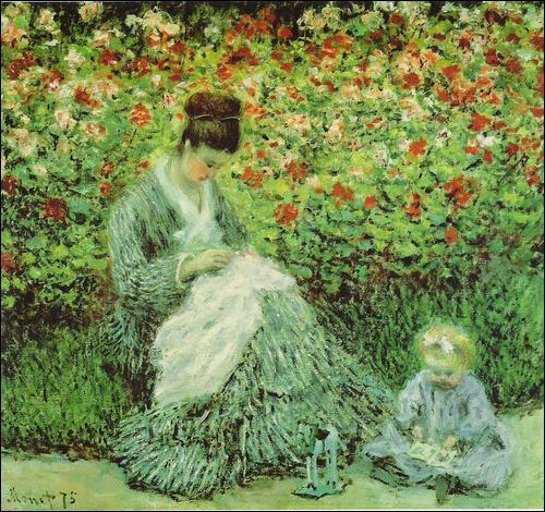 Qui a peint Camille et son fils dans le jardin d'Argenteuil ?