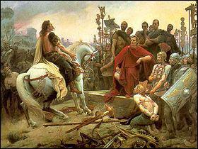 Alésia a été le théâtre de la bataille décisive de la guerre des Gaules qui opposa Jules César à la coalition gauloise menée par Vercingétorix en 52 av. JC. De quel peuple vient-il ?