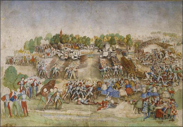 La bataille de Marignan eut lieu les 13 et 14 septembre 1515 et opposant François Ier de France et ses alliés vénitiens aux Suisses. Quel est l'enjeu de cette bataille ?