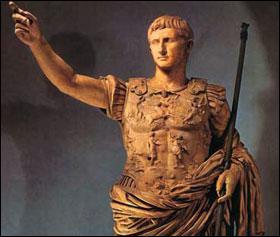 Auguste, d'abord appelé Octave puis Octavien, est le premier Empereur romain. A quelle bataille ne participa-t-il pas ?