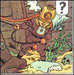 Le tresor de Rackham Le Rouge : Que ramène Tintin lors de sa première expédition sous-marine ?
