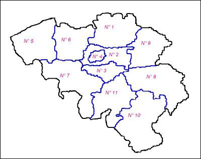 A quel numéro correspond la province du Luxembourg ?