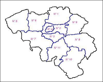 A quel numéro correspond la province du Brabant wallon ?
