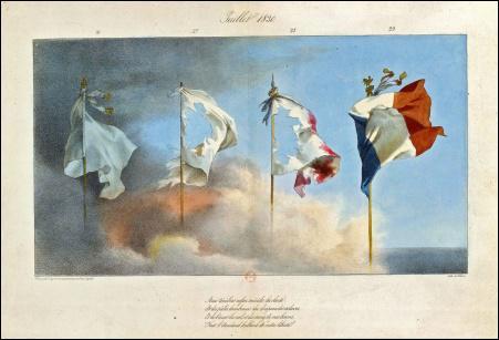 Le drapeau tricolore, dessiné par Jacques Louis David, ne prend sa forme définitive que le 15 février 1794 par la Convention Nationale. Pourquoi les bandes bleu, blanc et rouge sont-elles verticales ?