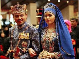 Cette photo représente le mariage du Prince de Brunei, qu'a-t-il de particulier ?