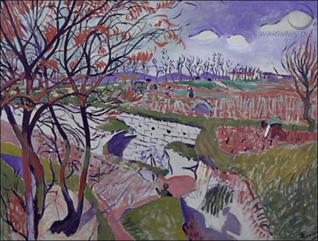 Qui a peint Les vignes au printemps ?