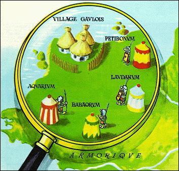 Parmi ces camps, lequel n'entoure pas le village des irréductibles Gaulois ?