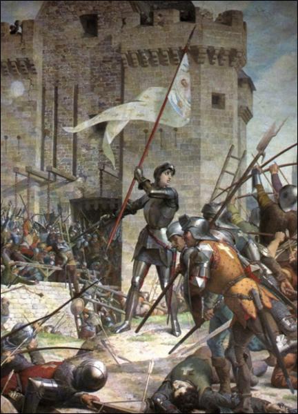 Après avoir convaincu le roi, Jeanne prend la tête d'une armée déguisée en homme. Quelle ville assiègée délivre-t-elle ?