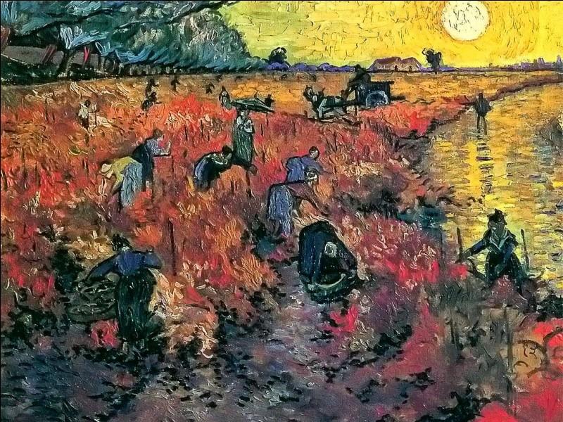 Une seule toile a été vendue de son vivant à la soeur du poète Eugène Boch, de quelle toile s'agit-il ?