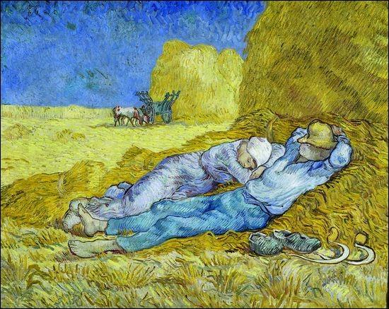 Quel peintre a-t-il copié quand il a peint 'La Sieste' (ou la Méridienne) ?