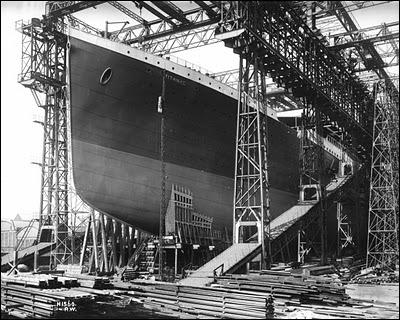 En quelle année a débuté la construction du paquebot ?