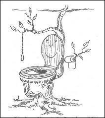 Qui a inventé la réserve d'eau pour chasser les excréments ?