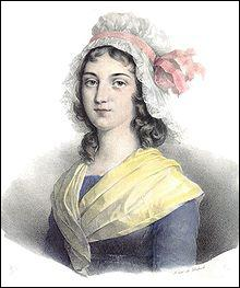 Quel est le nom de la femme de Marat qui retint Charlotte Corday après qu'elle ait assassiné Marat ?