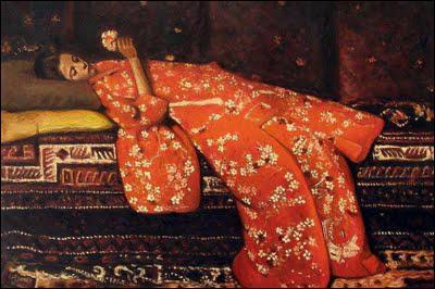 Qui a peint Femme au kimono rouge ?