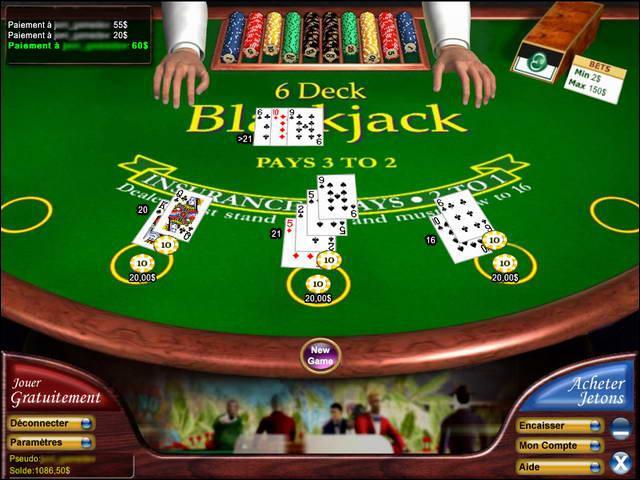 Faire 21 ou moins avec vos cartes, mais surtout ne pas le dépasser, vous jouez au...