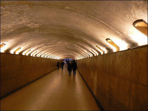 Quel passage permet à partir de l'avenue des Champs-Élysées, d'accéder au terre-plein central de l'Arc de Triomphe ?