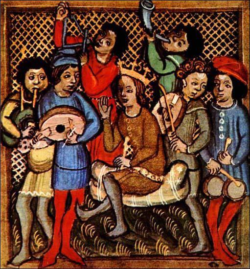 Les artistes itinérants du Moyen âge s'appellent troubadours au Nord de la France et trouvères au Sud.