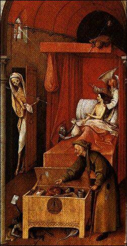 Au Moyen Age, la plupart des laïcs dorment nus, avec un bonnet de nuit toutefois.