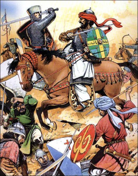 La première croisade est lancée par le pape en 1195 pour libérer la Terre Sainte des Sarrasins.