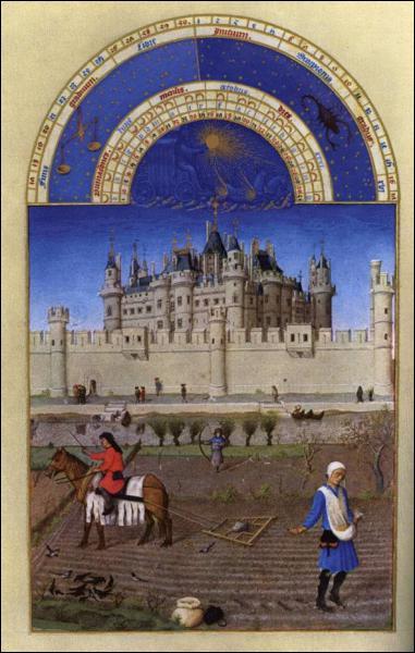 Philippe Auguste fonde le Louvre vers 1200 comme simple forteresse militaire.