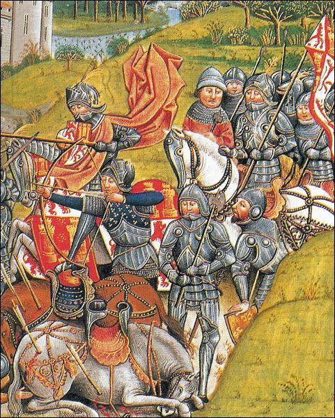 Pendant cette guerre, la bataille d'Azincourt (1415) est une terrible défaite de la France contre l'Angleterre.