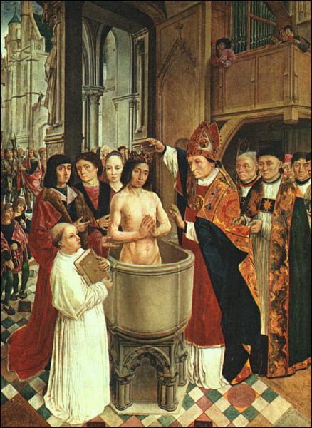 Clovis est baptisé à Chartres; c'est pourquoi presque tous les rois de France seront sacrés là-bas.